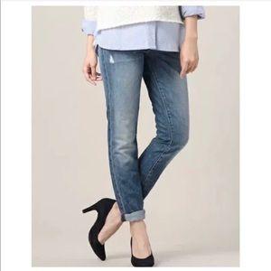 J Brand Slim Boyfriend Distressed Medium Wash Jean
